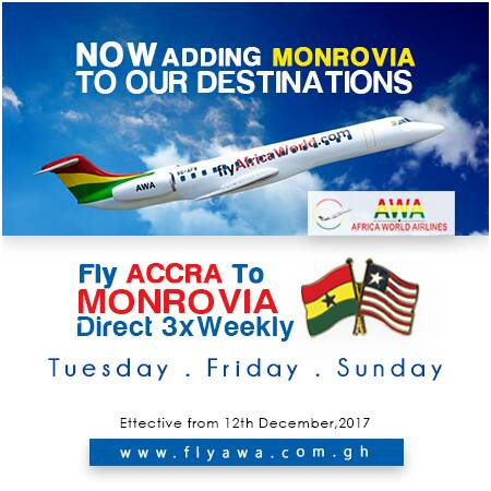 Africa World Airlines to commence Monrovia Route