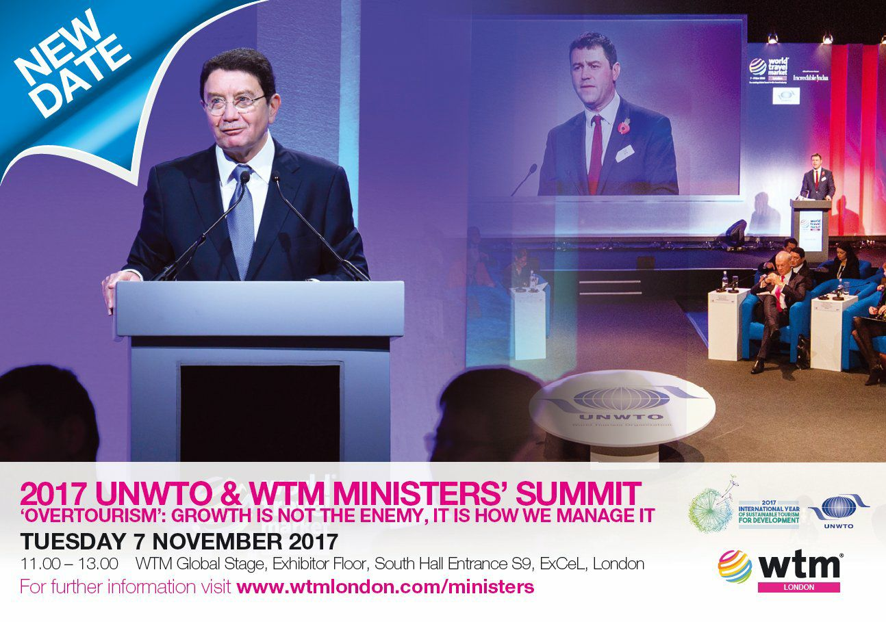 2017 UNWTO/WTM Ministers' Summit   60 Tourism Ministers and companies gather to discuss 'overtourism'