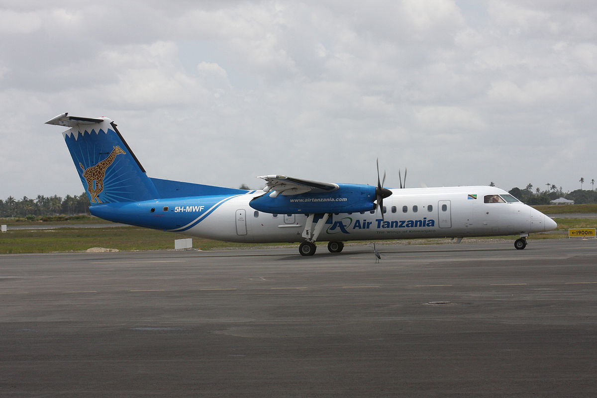 #Bombardier Q400NG finally makes it to Dar es Salaam