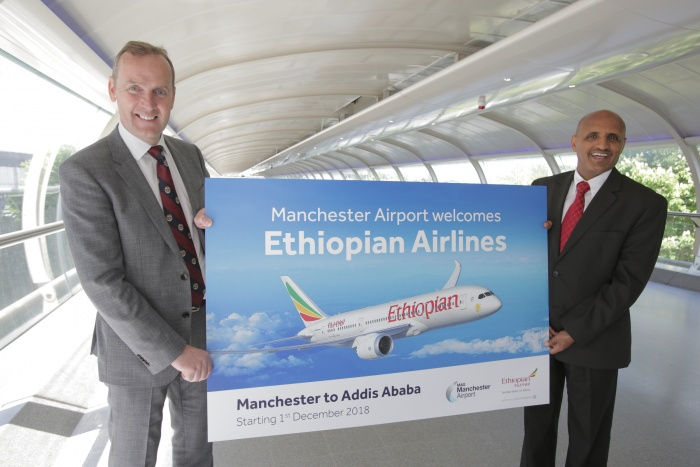 Ethiopia Airlines unveils new route from Manchester Airport