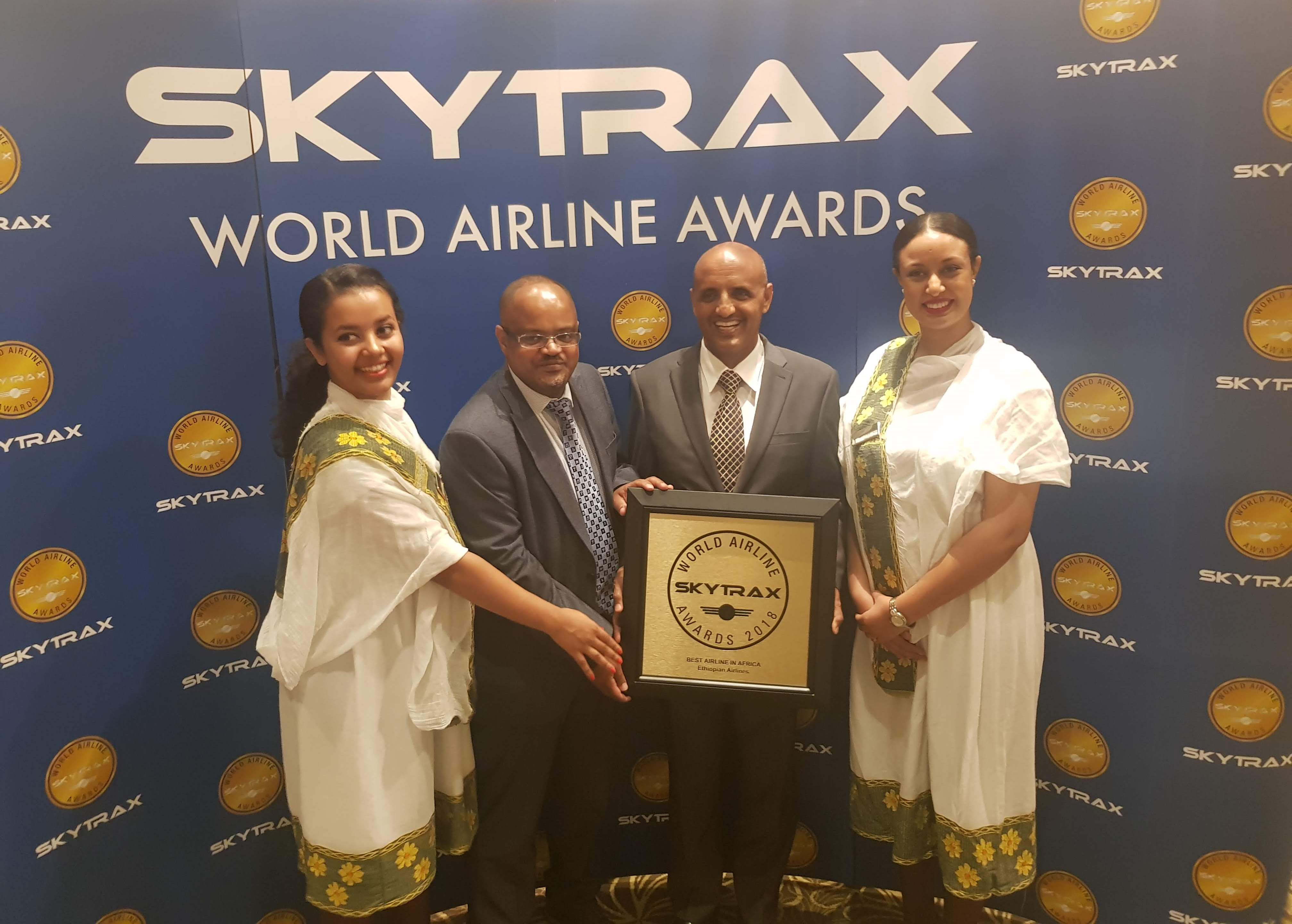 #Ethiopian wins SKYTRAX Best Airline in Africa Award for 2nd Time