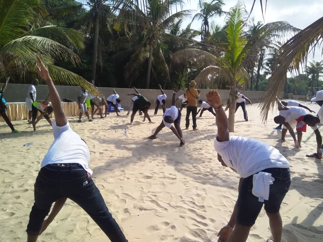 Labadi Beach Hotel Organises Republic Day Health Exercise for Staff