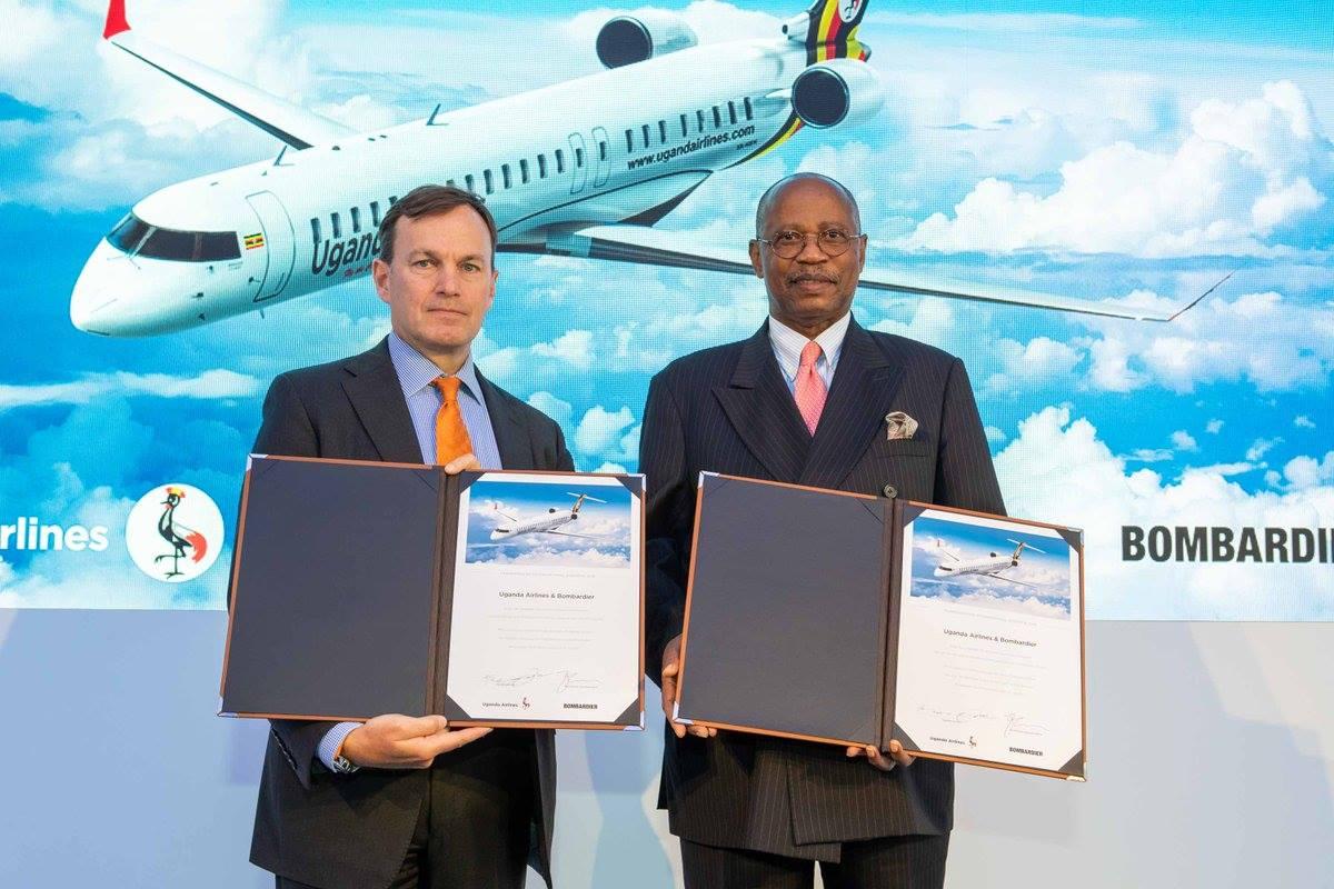 #Bombardier announces the sale of 4 #CRJ900's to #Uganda