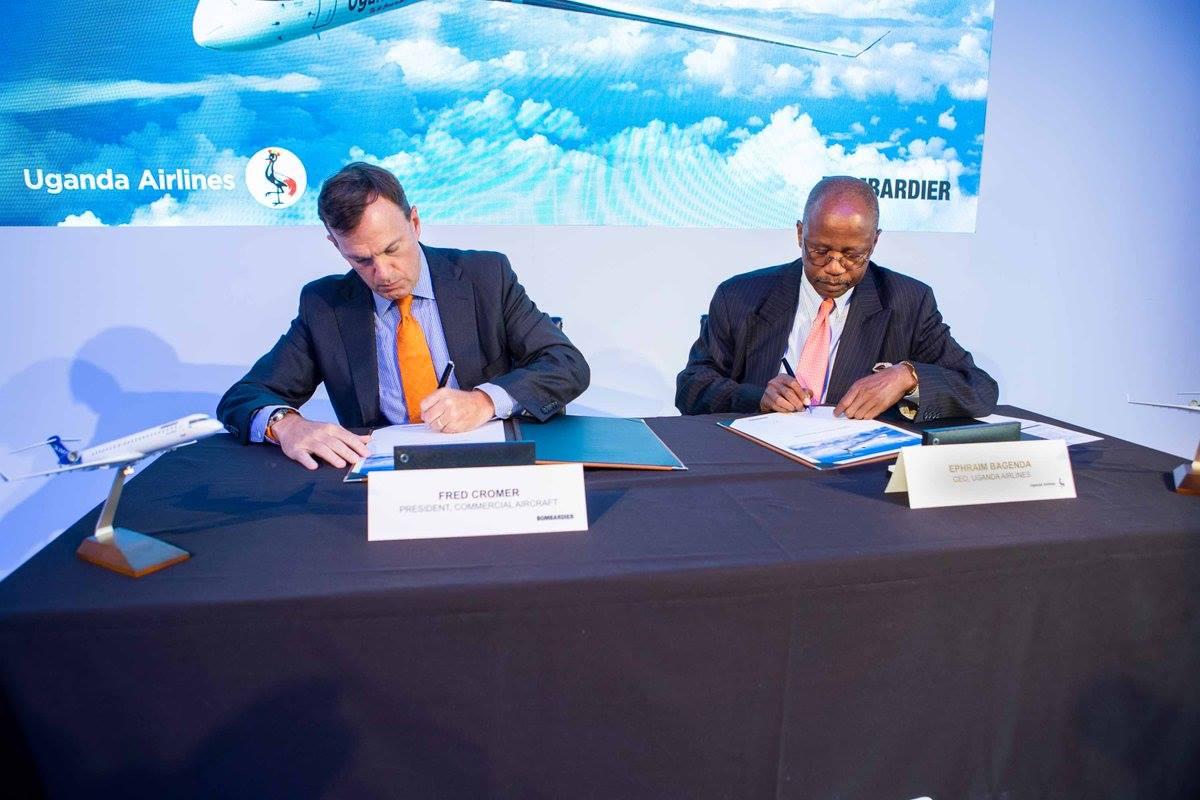 Bombardier announces the sale of 4 #CRJ900's to #Uganda