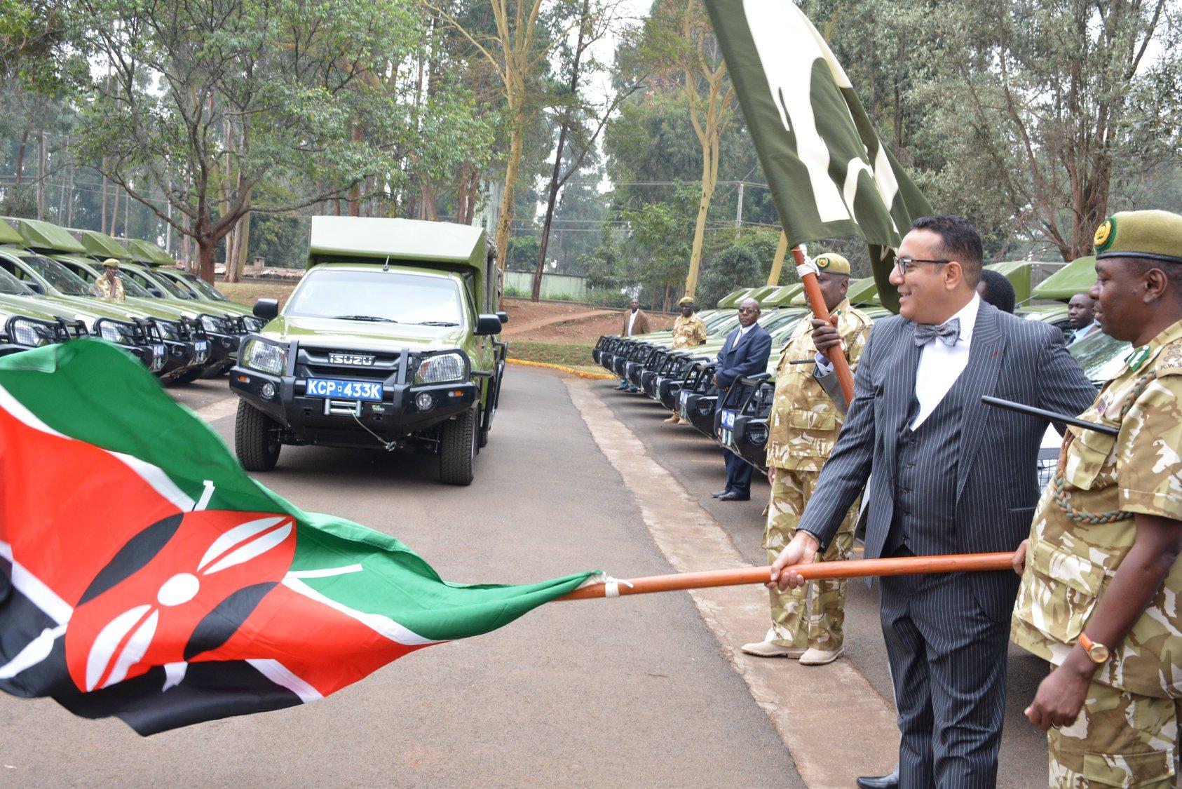 Kenya: CS Najib Balala Hands over 26 vehicles to KWS
