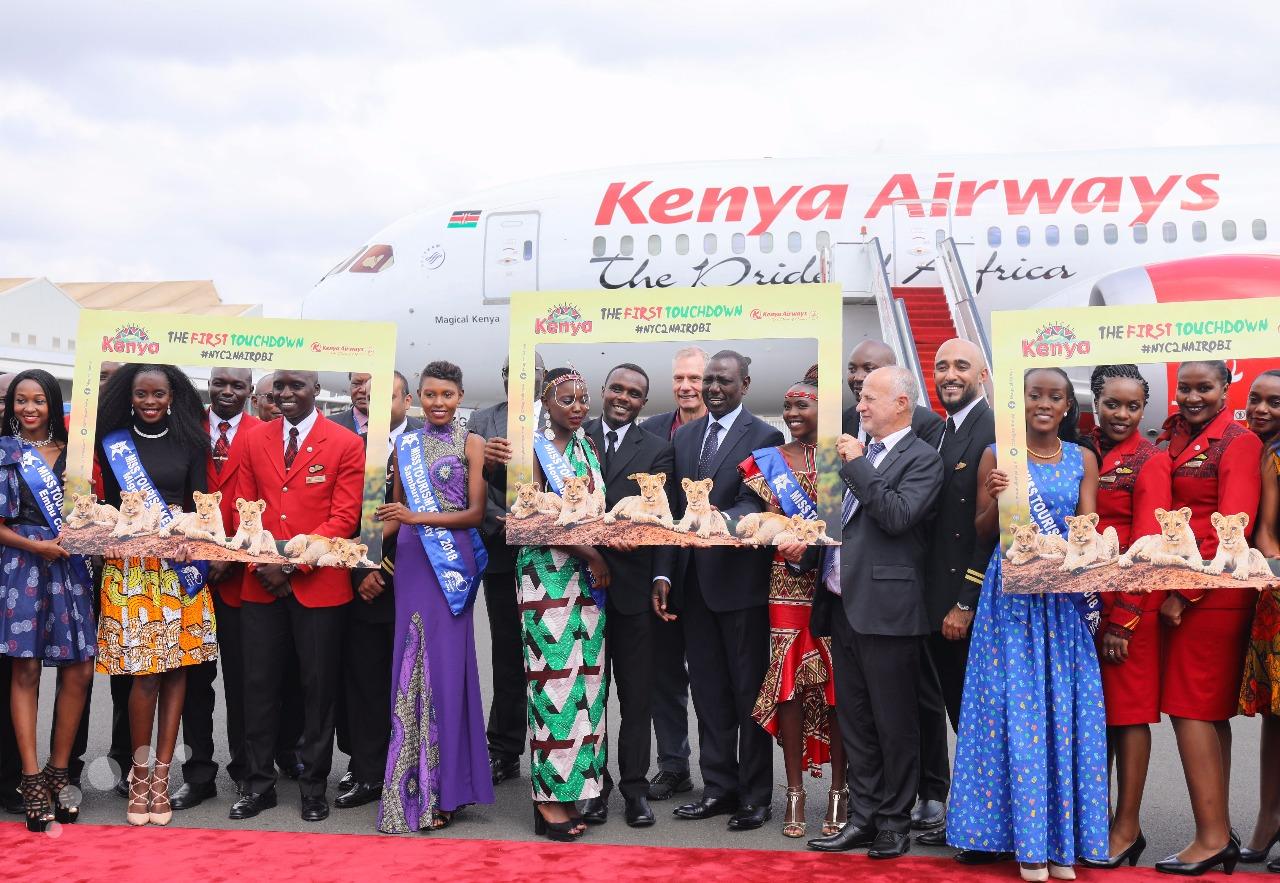 Kenya: Dep. Prez Ruto welcomes Kenya Airways' inaugural JFK-NBO flight