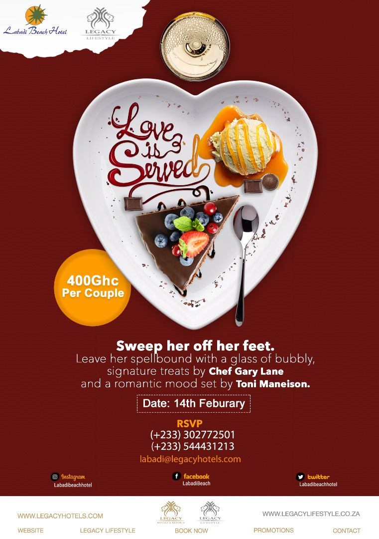 Love is served @ Labadi Beach Hotel