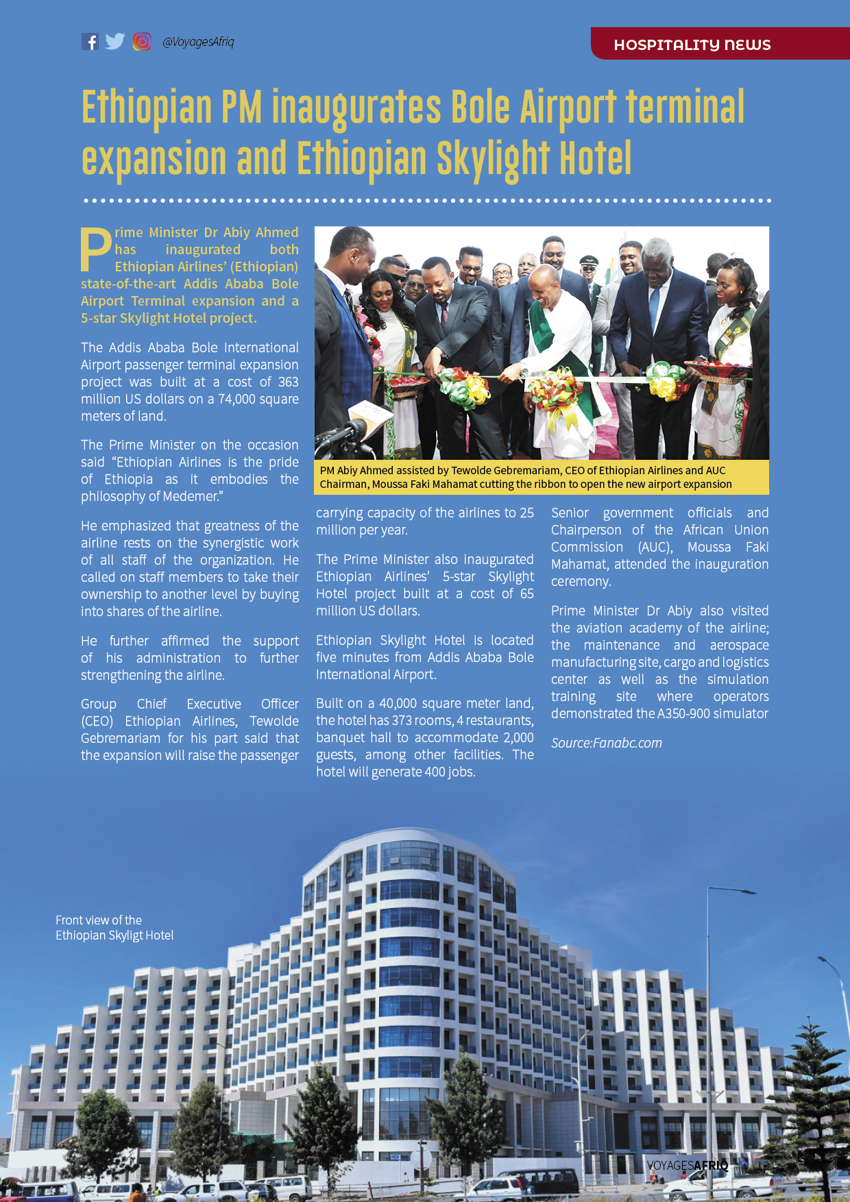 Seventh edition of VoyagesAfriq Travel Magazine out with