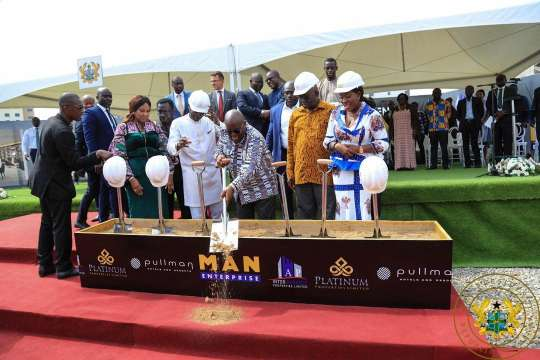 Ghana: President cuts sod for Pullman Accra Airport City Project