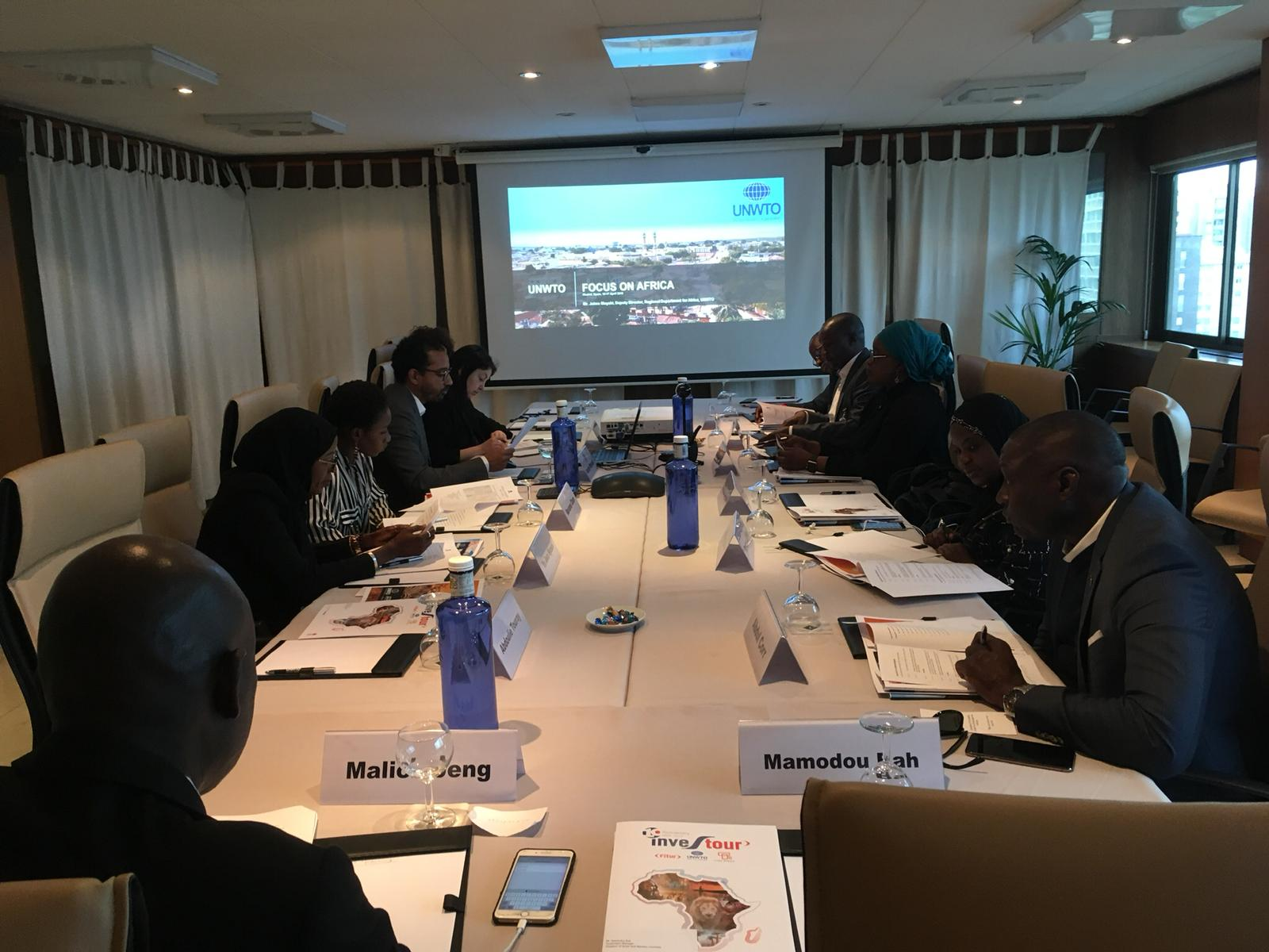 Gambian Tourism Officials undergo key training sessions at UNWTO Headquarters