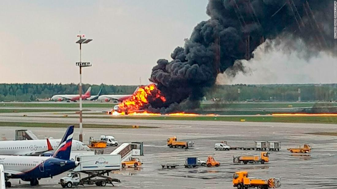 Breaking: At least 13 dead in Russian passenger plane fire