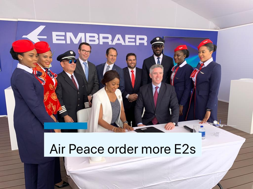 Air Peace Signs a Firm Order for Three additional E195-E2 jets