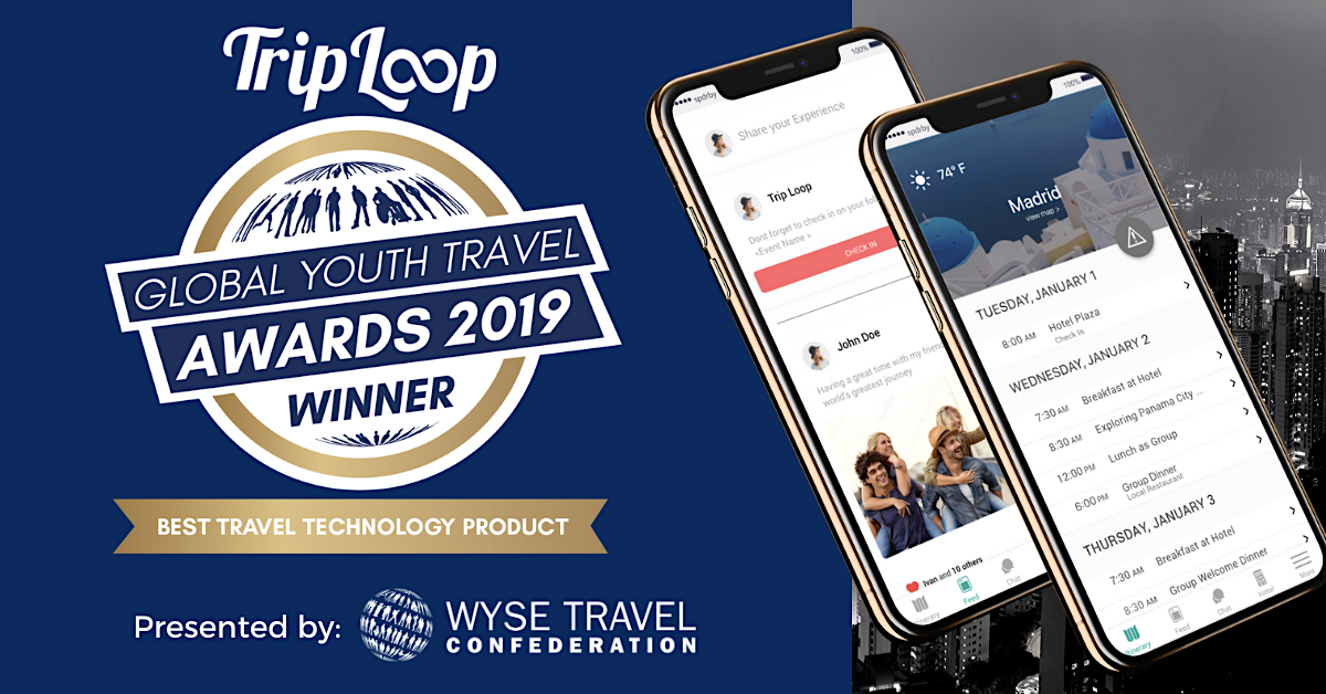 Trip Loop awarded 'Best Travel Technology Product' by the World Youth & Student Travel Conference 2019