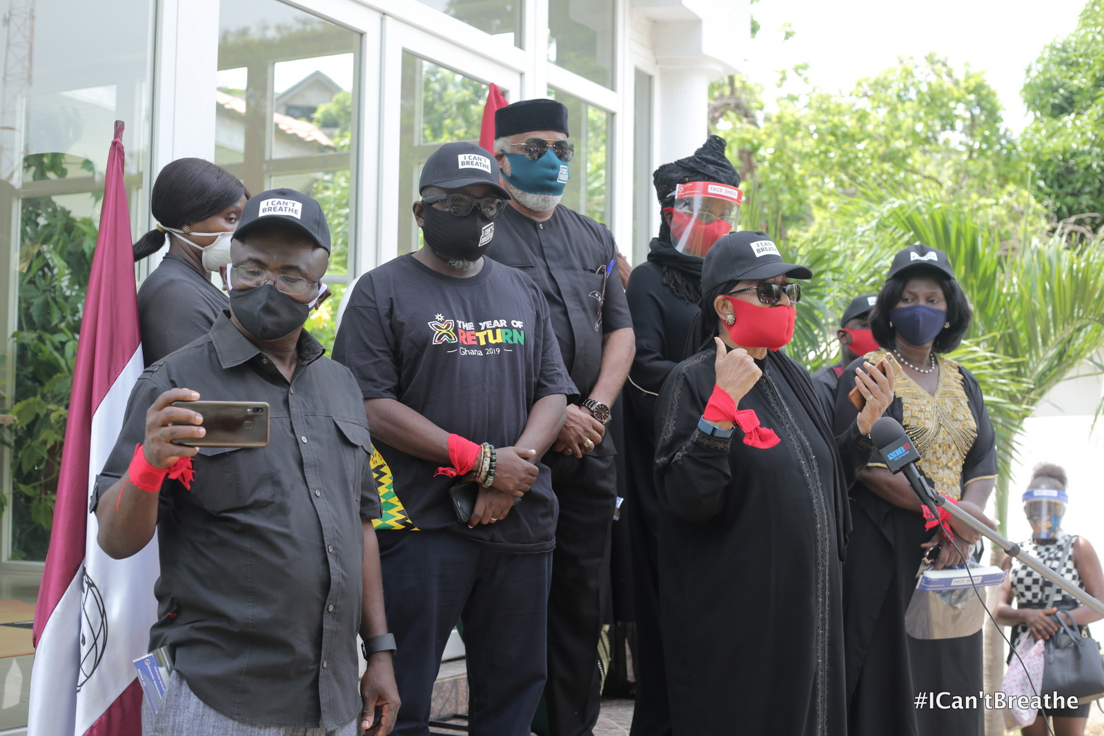 Ghana's President talks tough as protestors present petition for Justice for Floyd