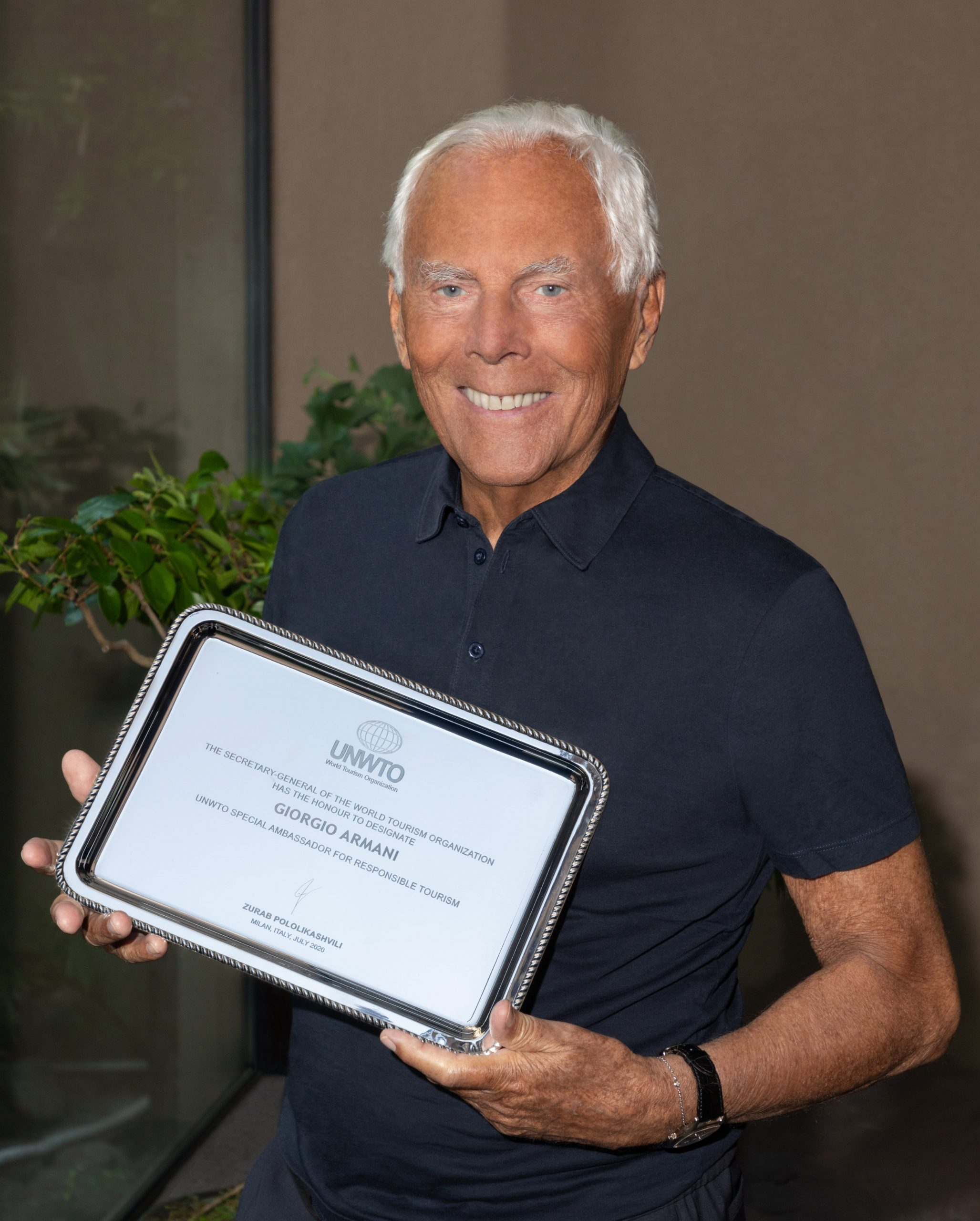 UNWTO names Giorgio Armani and Gino Sorbillo as Special Tourism Ambassadors