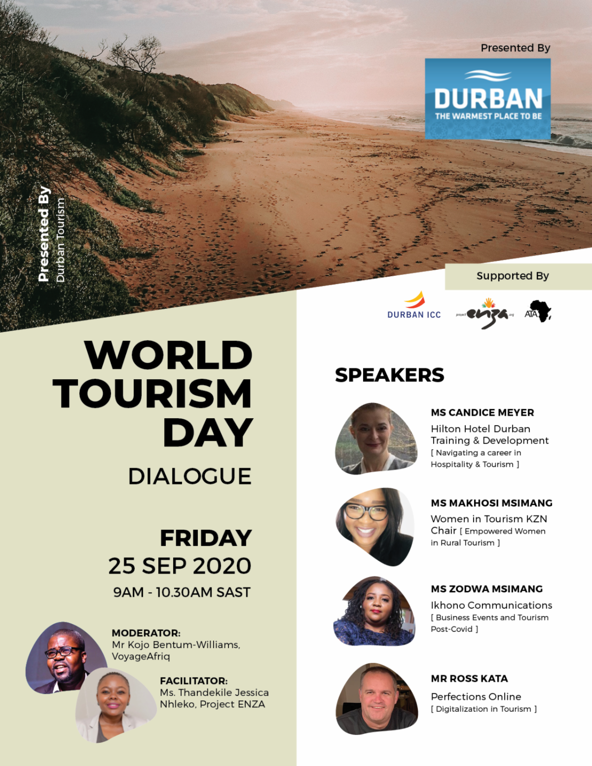 #WTD2020: Project ENZA to host World Tourism Day Virtual Dialogue on Sept. 25
