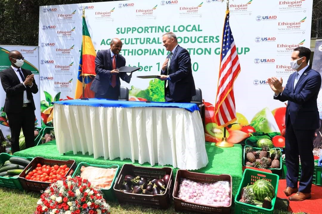 USAID and Ethiopian Airlines partners to source food from local Farmers for In-flight Meals
