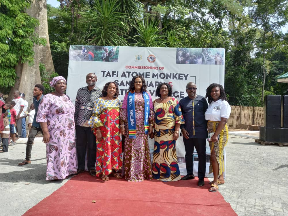 Ghana: Tourism Minister commissions upgraded facilities at Tafi Atome Monkey Sanctuary